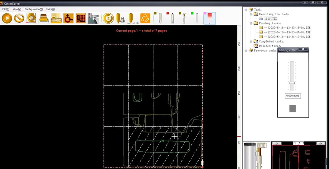 CutterServer ist eine Software zum Einstellen von Werkzeugparametern und zum Bearbeiten von Schneidaufgaben.